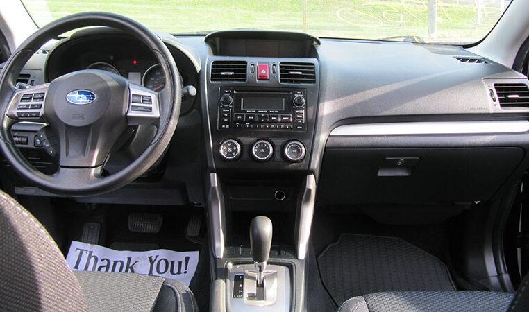 A and W Black 2015 Subaru Forester Dash