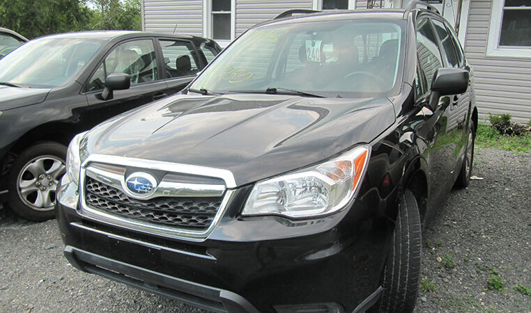 AandW 2015 Black Subaru Forester Three Quarter
